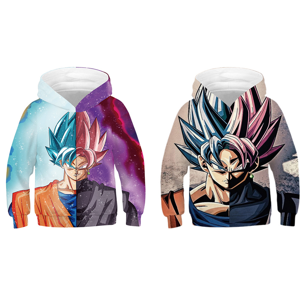 3D Print Dragon Ball Sweatshirt Mens Super Saiyan Children Hoodie Menswear 3D Long Sleeve hooded hoodies Baseball uniform(China)