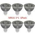 6pcs High Power Cool White LED bulb Lamp 3-4W AC/DC 12V 6V 24V MR16 GU5.3 Spotlight bulb Ceiling Lights & Super Bright Lighting
