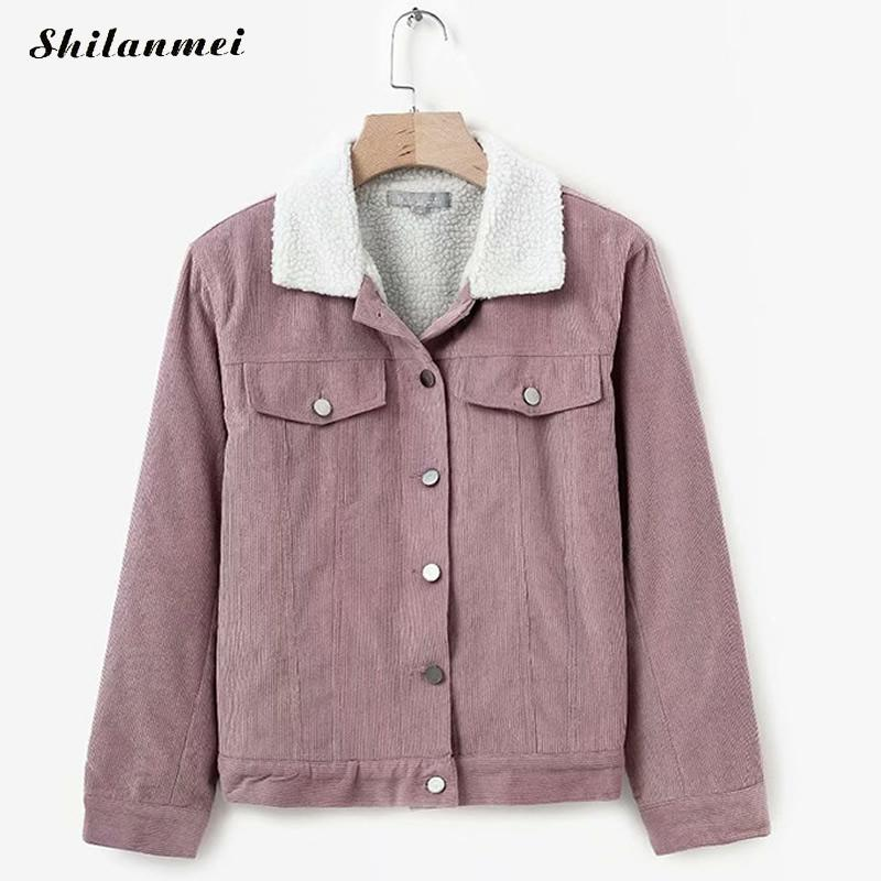 Woman Winter 2018 New Parkas   Basic     Jackets   Female Plus Casual Cotton Solid Pink Coats   Jacket   Womens Outwear Fashion Coat