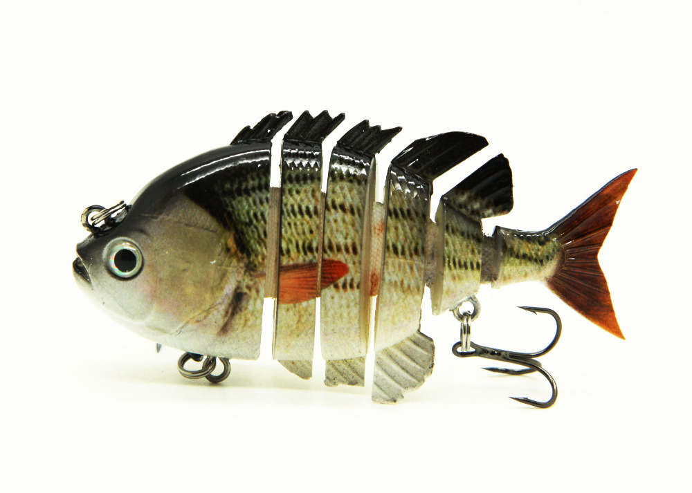 "2015 3"" Crazy Panfish Multi Jointed Fishing Life-like Hard Lures Swimbaits S-PAN-F DDV7JJUK008789"