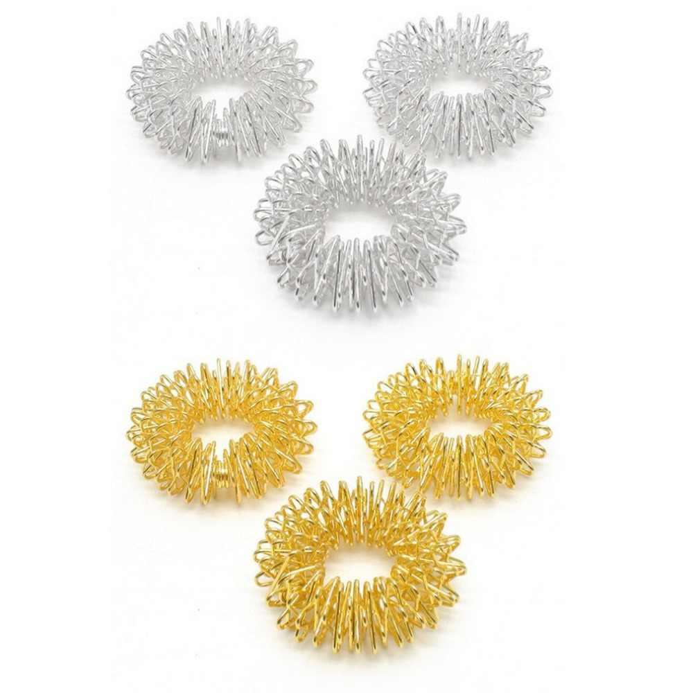 2 kolory palec masaż pierścień akupunktura pierścień opieki zdrowotnej masażer ciała relaks masaż dłoni palec schudnąć