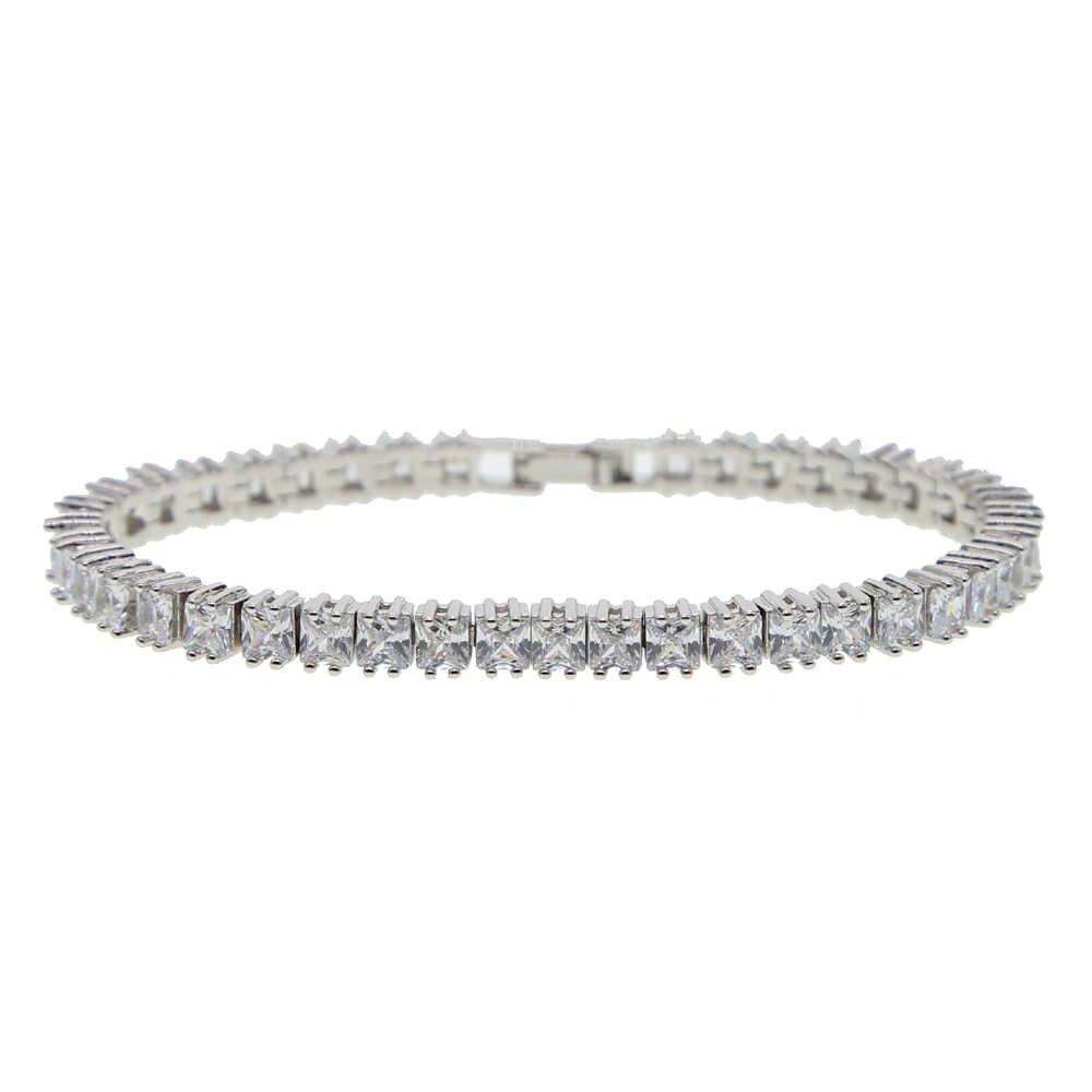 Bling bling cz betonowa tenis bransoletki i łańcuszki na rękę bransoletka dla kobiet mężczyzna hip hop bransoletka biżuteria z rod galwanicznie biżuteria hurtowych