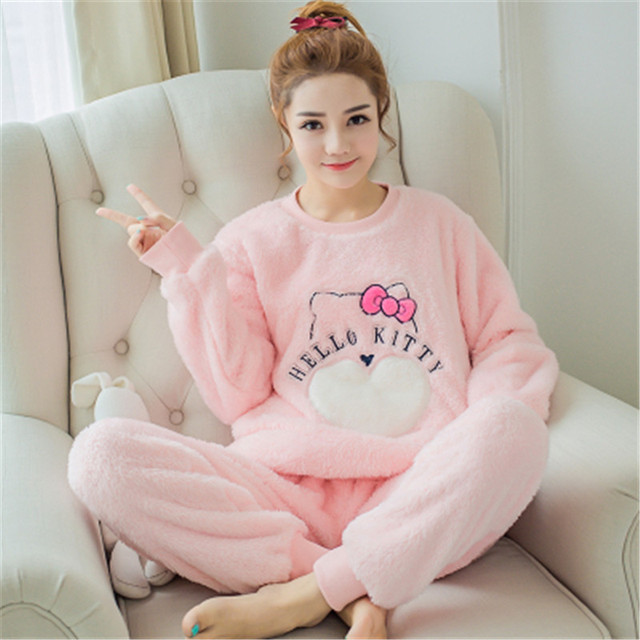 New Plush Robe Adult Animal Cat Pajamas Long Sleeve Lovely Sleepwear Bath  Pajamas Dressing Gowns for ad9b8b2cd