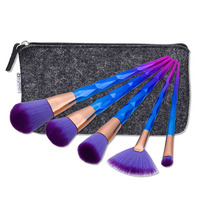 5 Pcs Makeup Brush Set With Cosmetic Bag Professional Makeup Brushes Foundation Makeup Powder Brushes Diamond