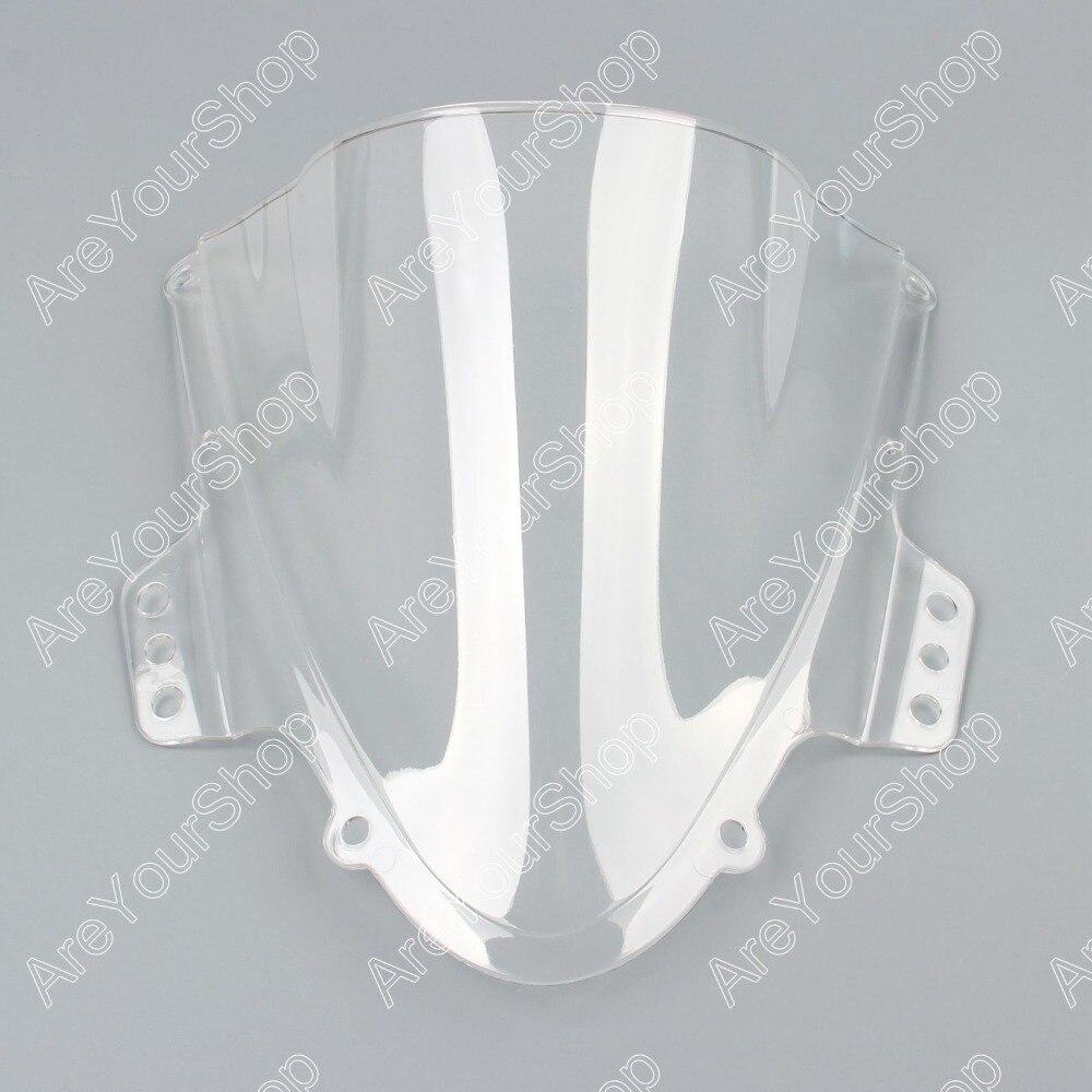For Suzuki GSXR 1000 2005 2006 K5 White Windshield WindScreen Double Bubble