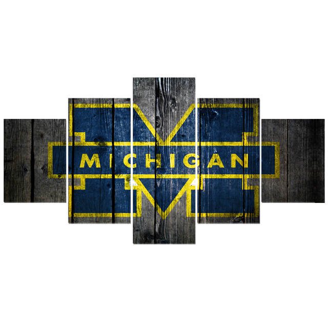 Us 6 16 23 Off University Rugby Michigan Wolverines Paintings Modern Home Decor Living Room Bedroom Wall Art Canvas Print Painting Calligraphy In