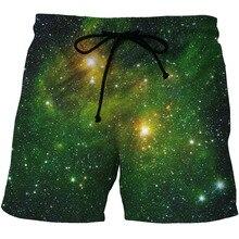 Pkorli 3D шорты мужские стильные Galaxy пространство Printed Jogger шорты Повседневная Спортивная одежда мужские пляжные шорты быстросохнущая короткие брюки 5X6XL