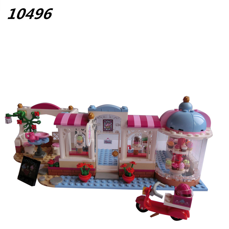AIBOULLY 2017 New 10496 Friends Heartlake City Cupcake Cafe bakery Park Building Naomi Figuress Toys Compatible with 41119 2016 bela 10497 10496 10493 girls friends city park cafe building blocks set figures bricks toys 41119