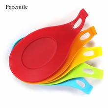 Facemile Silicone Spoon Rests Heat Resistant Placemat Drink Glass Coaster Tray Pad Kitchen Tool