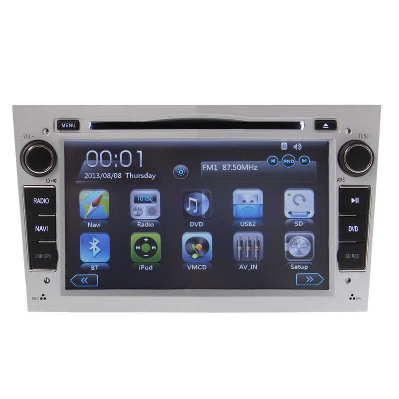 Wince6 0 Car Radio DVD Player GPS Navigaiton RDS For Opel Astra Vectra Zafira Steering Wheel