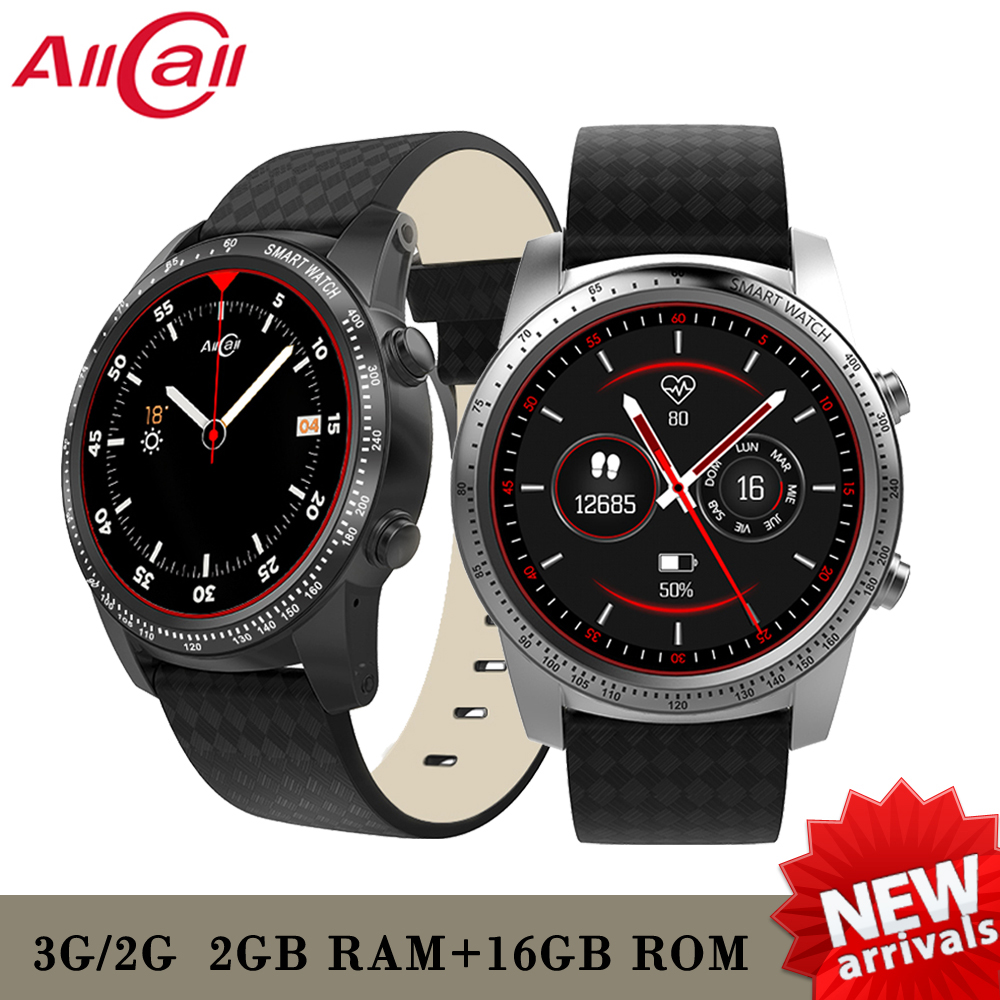 ALLCALL W1 Smartwatch Phone Android 5.1 Bluetooth 3G connect watch MTK6580 Quad Core 1.3GHz 2GB/16GB GPS Smart Phone Watches