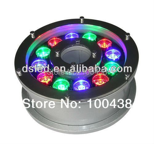 משלוח חינם ! IP68, CE, איכות טובה 12W LED RGB - תאורת לד