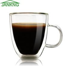 Здесь можно купить   JANKNG 350ml Heat-resistant Tea Glass Cup Clean Double Wall Glass Mug Coffee Juice Beer Cup Handmade Transparent Drinkware Set Kitchen,Dining & bar