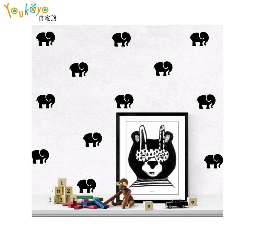 Cartoon elephant decorative painting wall sticker wholesale custom wall stickers in wall stickers from home garden on aliexpress com alibaba group