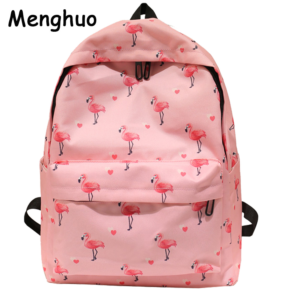 Menghuo Pineapple Fruits Printing Backpack Women Mochila 2017 Fashion School Bags for Teenage Girl sac a dos Nylon Cute Backpack