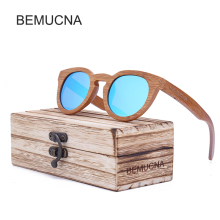 2017 New BEMUCNA bamboo Wood Sunglasses Women Cat Eye Sun Glasses For Women Fashion Ladies Eyeglasses Vintage oculos de sol