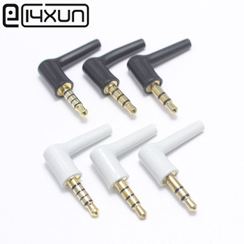 цена на 4Pcs 3.5mm Jack 3/4/5 Pole Male 90 Right Angle L-shaped Stereo Headphone Plug DIY Repair Earphone Jack Audio Soldering Connector