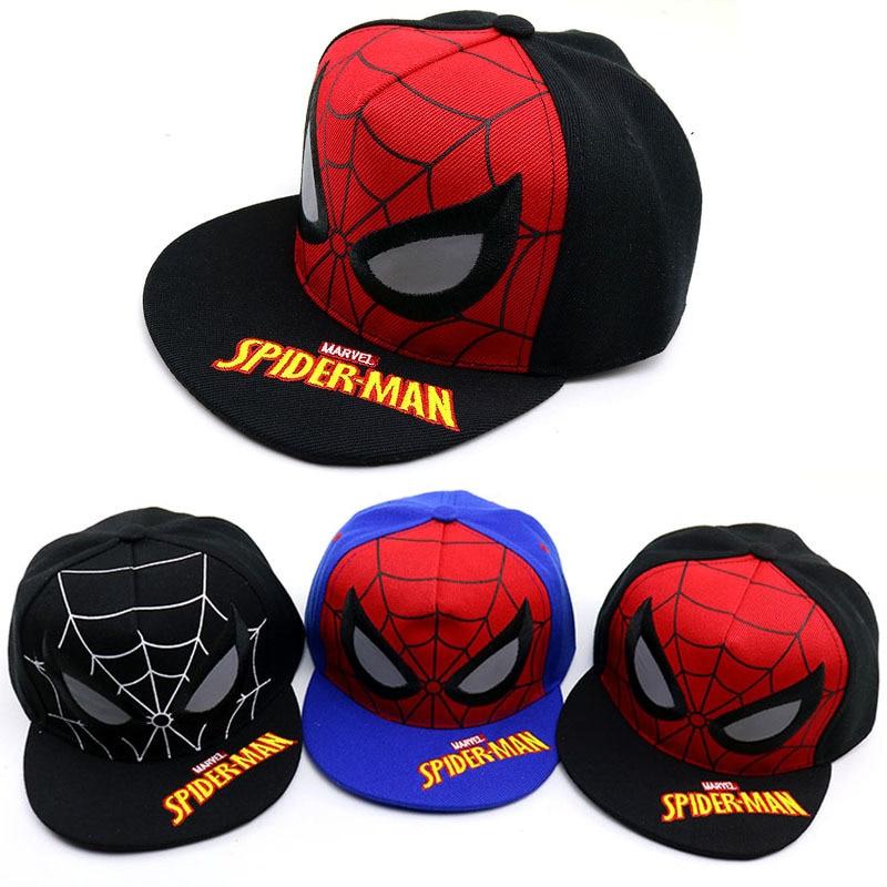 2019 New Baby hats Child   Baseball     Cap   Cartoon Spiderman Summer Kids Sun Hat Soft Boy Girl Snapback newborn photography props