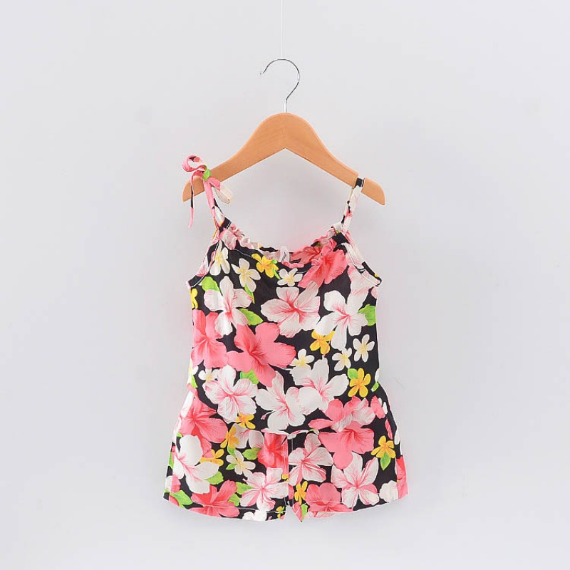 Summer Newborn Infant Baby Girls Clothes Casual Printed tracksuits for baby girls clothing outfits sets