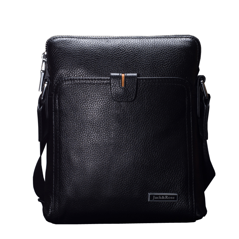 ФОТО Genuine Leather Men's  Bag top fashion men messenger bags luxury brands best  business men Shoulder briefcase bag crossbody
