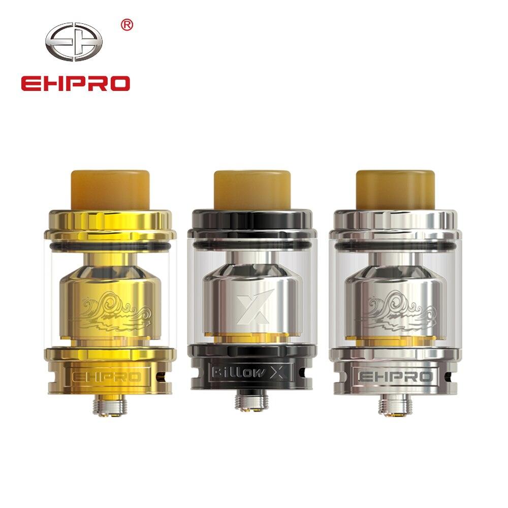 Ehpro Billow X RTA réservoir 5.5 ml capacité bricolage double bobine Top remplissage 510 E Cigarette atomiseur vaporisateur débit d'air réglable Vape réservoir