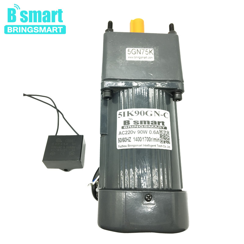 5IK90GN C AC 220V Fixed Speed 90W Single Phase Motor AC Low Speed Motor Reversible With Capacitance