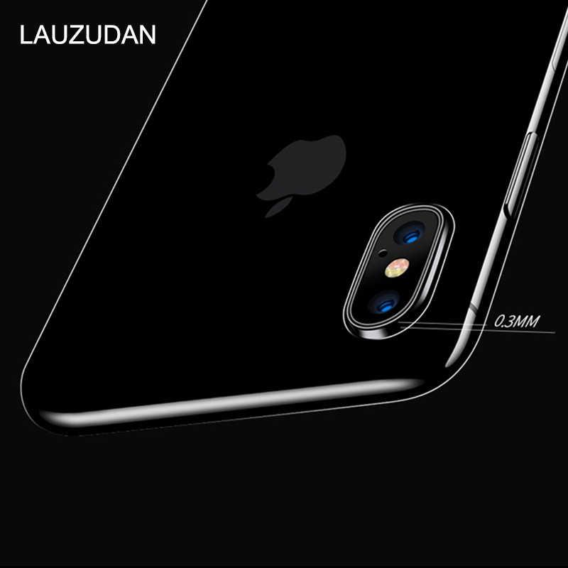 Wyczyść etui na telefon iPhone 7 etui na iPhone XR etui silikonowe miękka tylna obudowa na iPhone 11 Pro XS Max X 8 7 6 6s Plus 5 5S SE etui