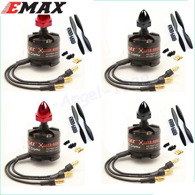 4 סט\חבילה EMAX 2212 MT2213 935KV Brushless Motor עבור F450 F550 X525 Quadcopter Multicopter 1045 מדחפים