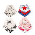 20 styles 3pc/lot 100% cotton baby clothing girls boys baby bibs towel bandanas babadores para bebe