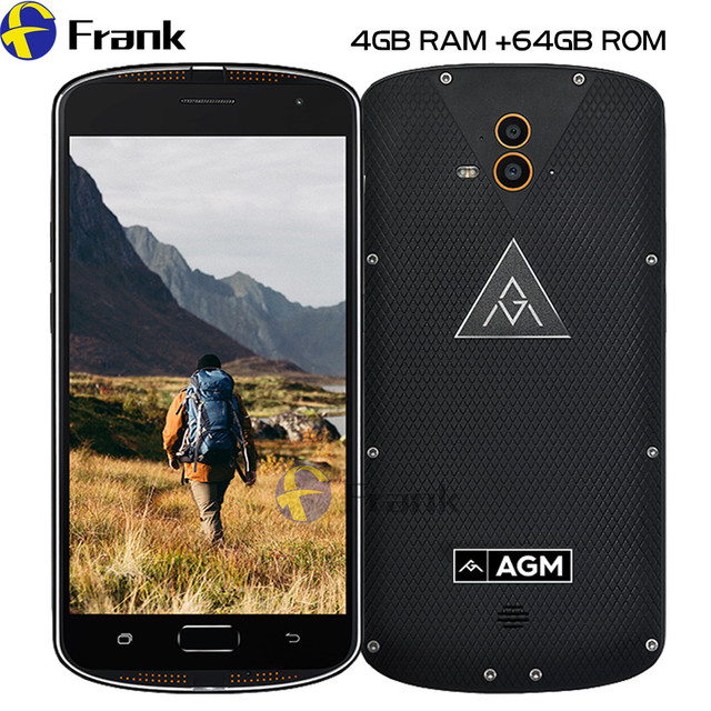 Original AGM X1 IP68 Waterproof Phone 6 64GB ROM 4GB RAM OctaCore OTG Double Rear Camera IP68 Fingerprint Smartphone Shockproof