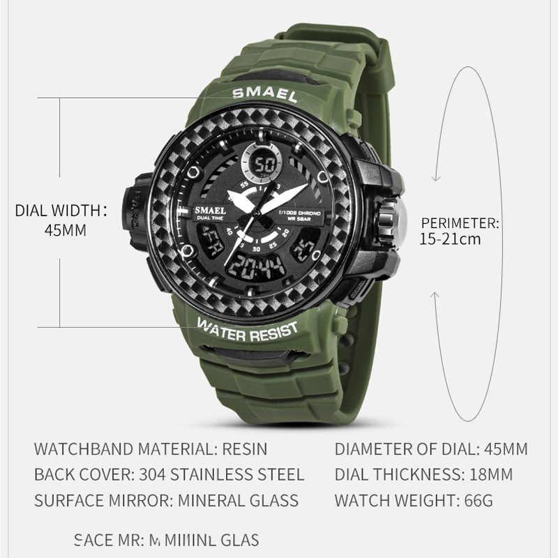 SMAEL Sport herren Uhren Top Luxus Military Quarzuhr Männer Wasserdichte Schock Armbanduhren Relogio Masculino 2020 Uhr