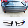 New Upgrade Car Styling Exhaust Tail Pipes For Mazda 3 Axela Hatchback 2014 2015 Best Quality Free Shipping