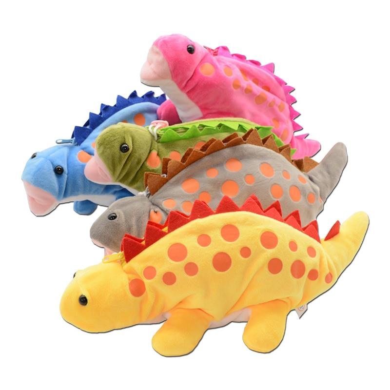 Dinosaurs Pencil Case School Supplies Etui Estuche Escolar Kawaii Plush Astuccio Scuola Kalem Kutu Trousse Cute Pen Pouch