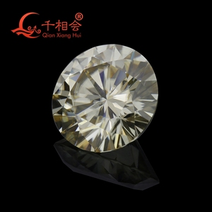 Image 3 - 5mm to 12mm  yellow color  Round Brilliant cut Sic material moissanite  loose stone by qianxianghui (vdieo is light yellow)