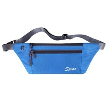 Waist Pack Nylon Sports Bags for Men Women Unisex Waterproof Fanny Pack Bum Bag Hip Money Belt Travel Running Mobile Phone Bag