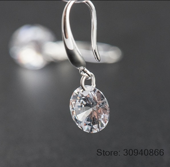 HTB17tlbeL1H3KVjSZFHq6zKppXa6 - LEKANI Hot Fashion jewelry 925 silver Earrings Female Crystal from Swarovski New woman name earrings Twins micro set