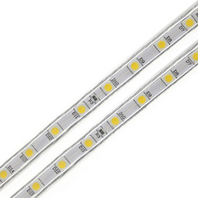 1Set LED Strip Light 5050 SMD AC220V Waterproof Silicone Tube 1M/2M/3M/4M/5M/6M/7M/8M/9M/10M/15M/20M 60LEDs/M + EU Power Plug