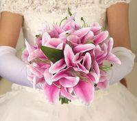 1 adet Ipek çiçek düğün buket Zambak dahlias Yapay çiçekler güz canlı sahte yaprak düğün çiçek gelin buketleri dekorasyon