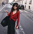 [XITAO] европа 2016 новая Европа женская мода сплошной цвет V-образным Вырезом тонкий вязаный свитер кардиган однобортный тонкий топы XQF004