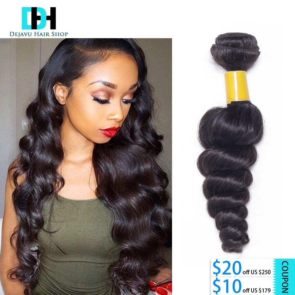 1 Single Bundle Peruvian Loose Wave 7A Unprocessed Cheap Peruvian Virgin Hair Loose Curly 100% Virgin Human Hair Weave