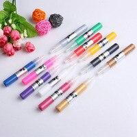 1set Acrylic UV Gel Design 3D Paint Tube Nail Art Pen 12 Colors Nail Polish False