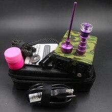 ArmyGreen Upgrade D-Nail Fit Flat 10mm coil Titanium/Quartz hybrid D nail E NAIL Kit Portable Box