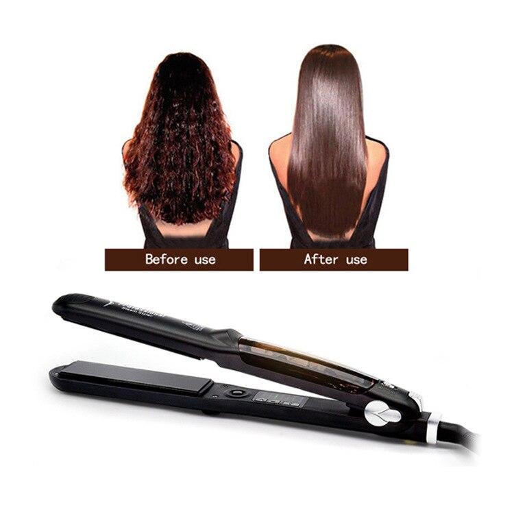 Пара Выпрямитель для волос Профессиональный быстрый нагрев Керамика Vapor выправляя Ферро утюг волос пароход инструмент для укладки