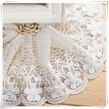 High quality cotton white lace curtain lace 1 yard/width 14cm sofa coat hem decorative accessories handmade DIY fabric lace 2018 кружево для шитья diy lace garden 7 14cm lt048 diy embroiered