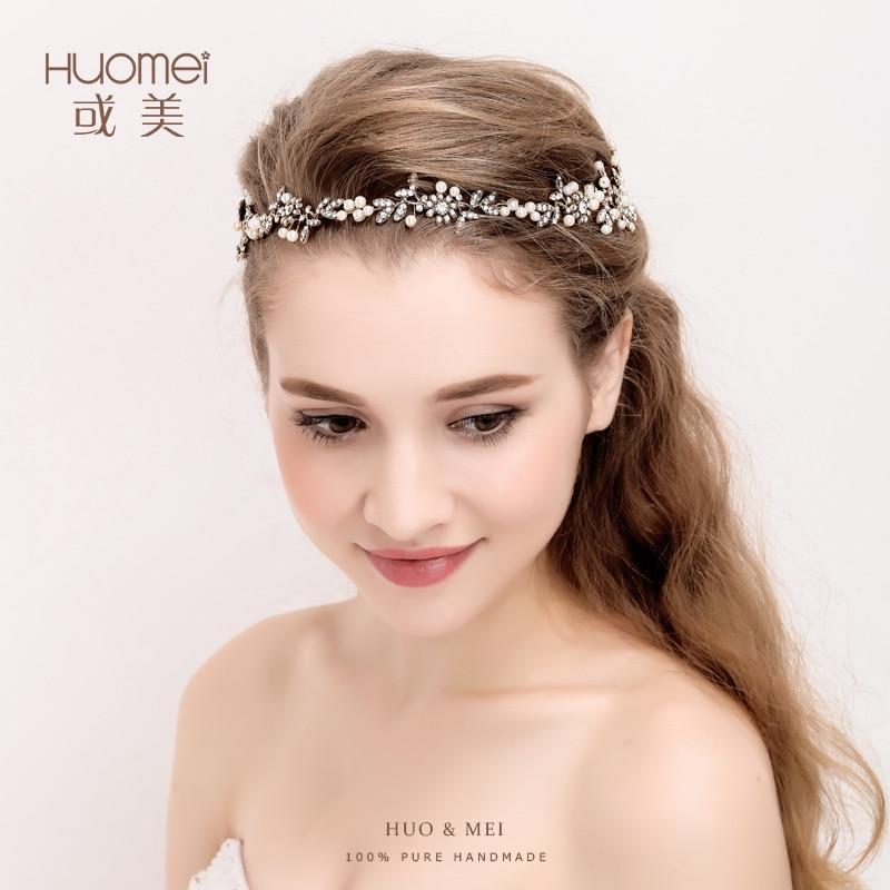 Exquisite Wedding Head Pieces: Elegant Handmade Gold Floral Leaf Wedding Headpiece Bridal
