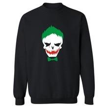 Joker Suicide Squad Hoodies men Black Cotton men Hoodies and Sweatshirt Harley Quinn street wear style men Hoodies XXS-3XL