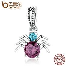 Bamoer 925 araña de plata colgantes de los encantos cupieron las pulseras para las mujeres y los granos de la joyería ingredientes scc047