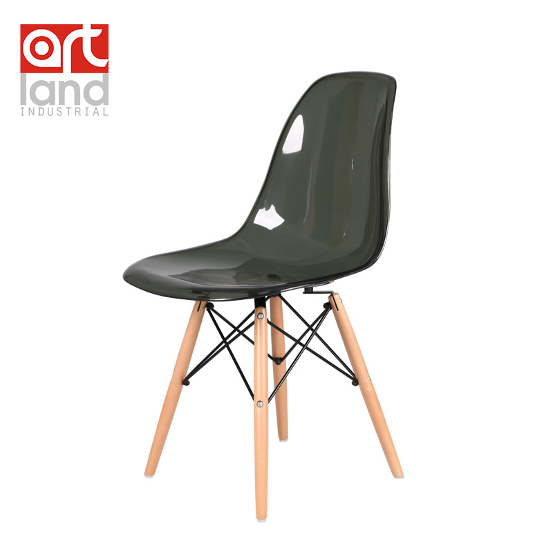 Online Shop Plastic Side Chair Transparent Seat With Beech Wood Legs Dining  Chair Leisure Chair Cheap Free Shipping Door To Door | Aliexpress Mobile
