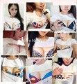 Sujetador Impresa de las mujeres de los hombres 3D Divertido de la Historieta camisetas 2016 Creativa Ropa de verano Tees Sueltos amantes de la camiseta de las mujeres Más El Tamaño Unisex