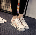Spring summer new women canvas shoes flat single shoes female white mesh casual shoes